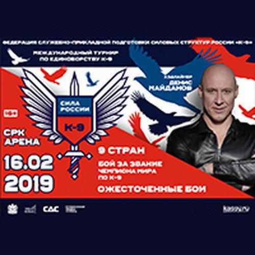 Анонс: Международный турнир по единоборству К-9 «СИЛА РОССИИ»